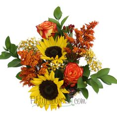 18 centerpieces for $210. FiftyFlowers.com - Bridal Centerpieces Peppered Orange and Red Flowers