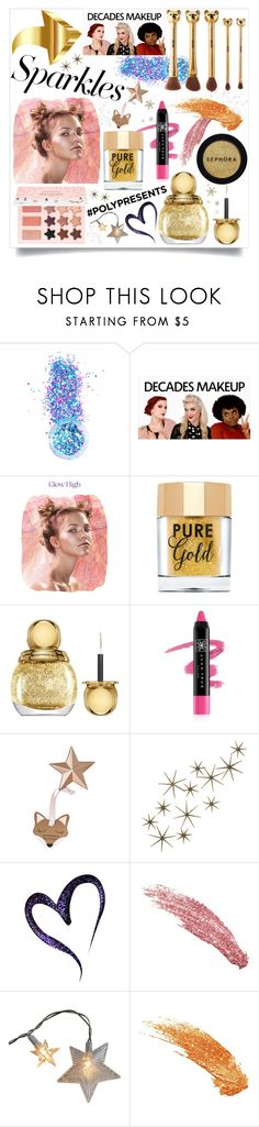 """""""#PolyPresents: Sparkly Beauty II"""" by westcoastcharmed ❤ liked on Polyvore featuring beauty, In Your Dreams, Stila, Sephora Collection, Too Faced Cosmetics, Christian Dior, Avon, Global Views, contestentry and polyPresents"""