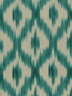 Turquoise Ikat Fabric  Modern Upholstery Fabric by PopDecorFabrics, $59.00