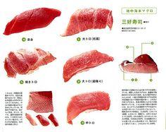 Grades of Blue Fin Tuna