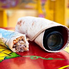 Say Queso! Burrito-esque Lens Wrap