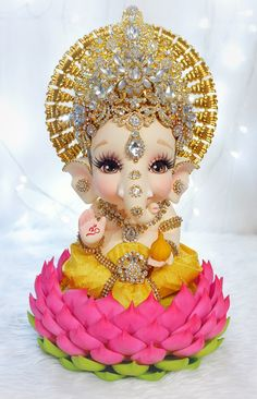 Ganesh Chaturthi Decoration, Happy Ganesh Chaturthi Images, Shri Ganesh Images, Ganesha Pictures, Krishna Images, Ganesha Tattoo Lotus, Lotus Tattoo, Tattoo Ink, Ganesh Bhagwan