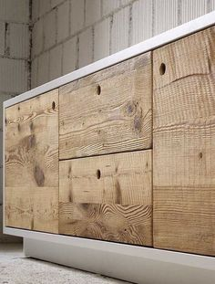 Wooden sideboard with doors with drawers TOLA by Miniforms (Mix Wood Furniture) Furniture Details, Wooden Sideboard, Wood, Woodworking Furniture, Cool Furniture, Wood Design, Wood Furniture, Diy Furniture, Furniture Inspiration
