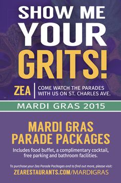 ZEA Mardi Gras Table Tent - New Orleans