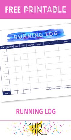 If you're into marathon training, this free printable running log can help you create and stick to a training schedule.