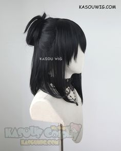 Black Cosplay Wig, Cosplay Hair, Cosplay Wigs, Anime Cosplay, Kawaii Hairstyles, Wig Hairstyles, Casual Hairstyles, Updo Hairstyle, Medium Hairstyles