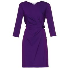 DIANE VON FURSTENBERG Zoe dress ($448) ❤ liked on Polyvore featuring dresses, purple, ruched cocktail dress, ruched evening dress, evening dresses, purple dress and ruching dress