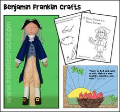 Benjamin Franklin Crafts and Learning Activities from www.daniellesplace.com