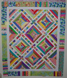 Picnic Scraps String Quilt top by Melody Lynn | Flickr - Photo Sharing!