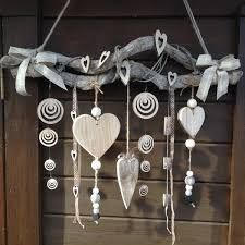 New Garden Art Ideas Wind Chimes Decor Ideas Beach Crafts, Diy And Crafts, Arts And Crafts, Christmas Crafts, Christmas Decorations, Heart Decorations, Driftwood Crafts, Creation Deco, Nature Crafts