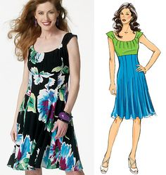 Just like my favorite White House/ Black Market Dress- now I can make multiple versions!