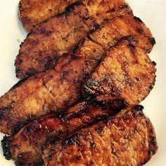 "grilled pork chops Chinese Pork Chops Recipe Chinese Pork Chops I ""This recipe was . Chinese Pork Chops, Asian Pork Chops, Pork Chop Recipes, Meat Recipes, Cooking Recipes, Pork Meals, Recipies, Fast Dinners, Smoker Recipes"