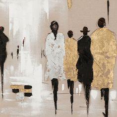 Vintage Boulevard Gemälde Figuren & Bewertungen | Wayfair.de #abstractart