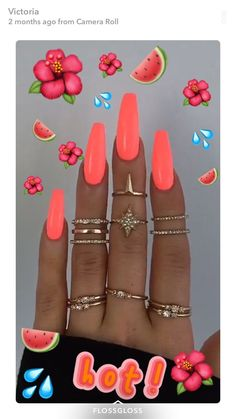 Want some ideas for wedding nail polish designs? This article is a collection of our favorite nail polish designs for your special day. Neon Acrylic Nails, Neon Nails, Swag Nails, My Nails, Neon Nail Art, Grunge Nails, Ongles Bling Bling, Acylic Nails, Fire Nails
