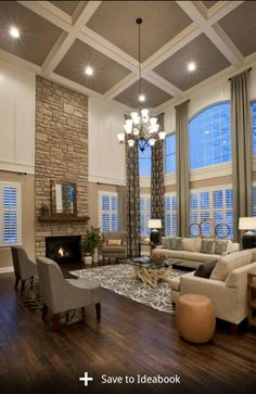 Tall ceilings with drapes...awesome floors