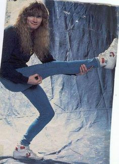 Dave Mustaine- love this vintage '80's photo! I remember leather jackets, high top tennies and levi's jeans.