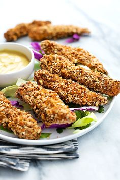Juicy seasoned chicken strips with a pretzel crust – perfect for serving with your favorite dipping sauces for dinner or a tasty appetizer. Welcome to this week's episode of Confessions of a Chicken Tender-aholic! For real though. I have an addiction to chicken tenders. And it goes way, way back. When I was younger I ordered... Read More »