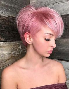 Short Pink Hair Color Ideas 2018