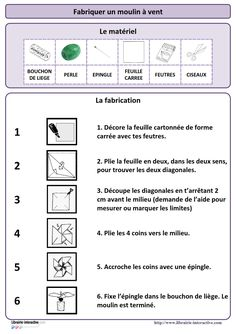 1000 images about lire pour agir on pinterest origami easy origami and 3d - Fabrication moulin a vent ...