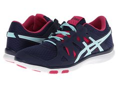 ASICS GEL-Fit Tempo™ Navy/Ice Blue/Hot Pink - Zappos.com Free Shipping BOTH Ways