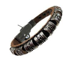 Handmade Bracelet,Personalized Round Rivet Leather Bracelet,men Leather Bracelet, Rocker Style, Fashion Jewelry Bracelet, Birthday Gifts-W13...