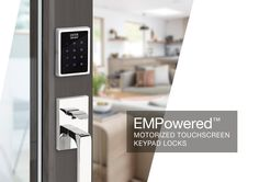 EMPowered™ is the design focused solution for a motorized deadbolt that can integrate with smart home technology. Keypad Lock, Classic Doors, 3d Printer Projects, Smart Home Technology, Home Automation, Entry Doors, Hardware, Showroom, Locks