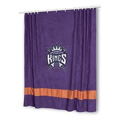 Sports Coverage Sacramento Kings MVP Shower Curtain  http://allstarsportsfan.com/product/sports-coverage-sacramento-kings-mvp-shower-curtain/  100% polyester microsuede shower curtain Decorated with the team colors and logo Machine washable