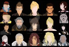 Final Fantasy XV Main Characters by DigitalCleo.deviantart.com on @DeviantArt #finalfantasy #finalfantasyxv #ffxv #finalfantasy15 #noctis #lunafreya #ardyn #prompto #ignis #gladiolus