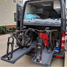 Q: Plenty of questions on where people can buy the sliding bike storage drawers. Bike Storage Drawer, Bike Storage In Van, Storage Drawers, Kombi Motorhome, Truck Camper, Camper Trailers, Van Conversion Bike, Van Conversion Project, Rack Velo