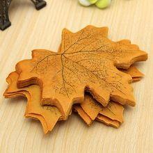 50 pcs Maple Autumn Leaves Wedding Decoration decor(China (Mainland))
