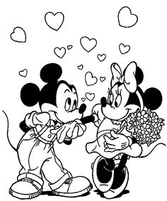 Mickey Mouse And Minnie Holding Balloons | Mickey Mouse ...