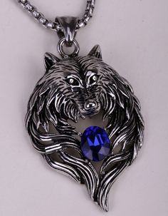 Heavy Duty Stainless Steel Wolf Pendant/Necklace