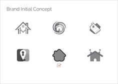 Brand Initial concept for logo design