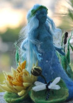 Waldorf Wool needle felted The lake Fairy.