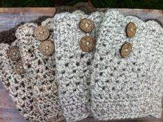 Scalloped Boot Cuffs by PeekaAndBean on Etsy, $18.00 @Paula mcr Bragg  I like both of these but i want the grey if you can