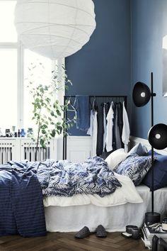 Parure de couette à motif - Bleu foncé - Home All   H&M FR 1