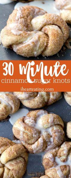 30 Minute Cinnamon Sugar Knots