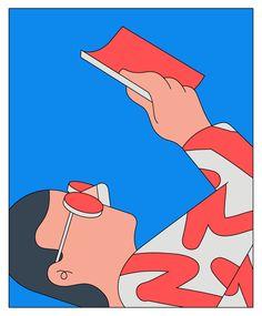 Reading Man - Camilo Huinca People Illustration, Digital Illustration, Graphic Illustration, Graphic Art, Grafik Design, Illustrations Posters, Art Inspo, New Art, Art Reference
