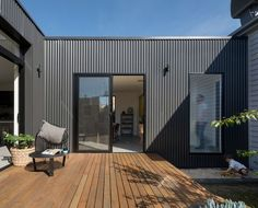 Set well away from the original house, this new addition creates a central courtyard which all living areas wrap around.