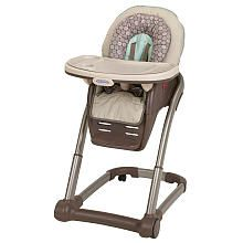 Graco Blossom 4-in-1 High Chair Seating System...love this b/c it can accommodate a toddler and an infant at the same time!  How cool!