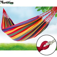 High Quality 280x80cm Outdoor Garden Hang Hammock Summer Portable Load-bearing Bed Travelling Hang Bed Canvas Stripe Hammock - http://furniturefromchina.net/?product=high-quality-280x80cm-outdoor-garden-hang-hammock-summer-portable-load-bearing-bed-travelling-hang-bed-canvas-stripe-hammock