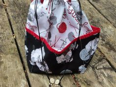 Medium  KNIT / CROCHET  Project Bag by StitchedNaturally on Etsy, $40.00