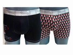 Pack de 2 boxers Soy Underwear Soup. ENVÍO 24/48h. Compuesto por 2 calzoncillos muy informales y divertidos, uno estampado y otro liso. Ref:152 639 99. http://www.varelaintimo.com/marca/23/soy