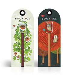 Birds and Owl Unique Illustrated Bookmarks by Modern8
