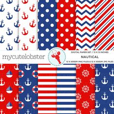 This digital paper set includes 12 images of patterned paper in nautical patterns and colors. The images you receive will be individually saved, high quality, 300 DPI PNG* files, 12 by 12 inches in size.  This set will be available as an instant download and will have no watermarks. After purchase and confirmed payment, your download will be available via your Etsy purchases. You will then be able to download a ZIP file that contains all images from this set in PNG* format. Please make sure…