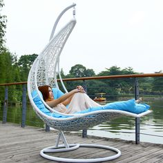 Outdoor outdoor swing rattan hanging basket hanging chair leisure chair moon boat hammock cradle rocking chair US $300.00