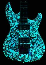 Ibanez RG540 with glow in the dark finish