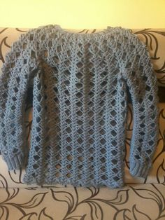 Woolen crochet blouse