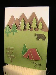 WWC73 - Camping - Outdoor Adventure stamps and dies.