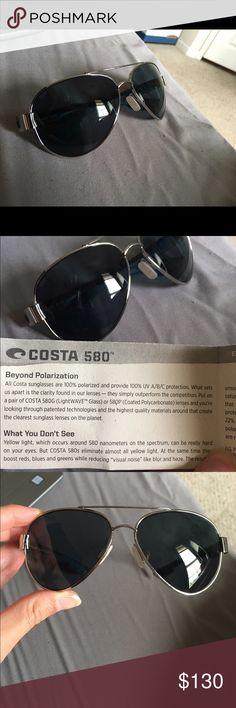 Costa Del Mar Sunglasses Costa Del Mar Loreto lenses. 580 polarized glass. Barely worn, like new. Comes with a lifetime warranty guarantee and new case. Costa  Accessories Sunglasses